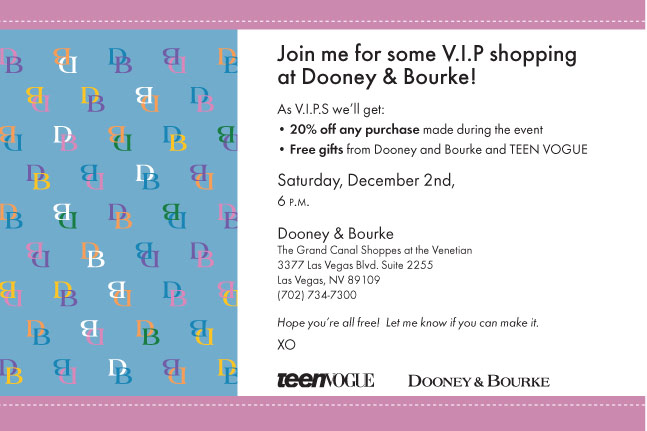 TEEN VOGUE Dooney & Bourke